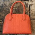 Alternate image 3 for Small Dome Orange Python By Lanae Exotic Handbags