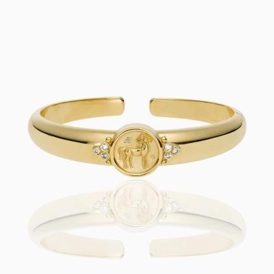 18K Horse Coin Bracelet with diamond - Temple St. Clair