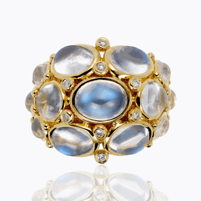 18K Moonstone Bomb'  Ring - Temple St. Clair