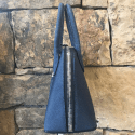 Alternate image 1 for Small Dome In Denim Blue Stingray -Silver Hardware By Lanae Exotic Handbags