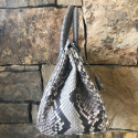 Alternate image 3 for Anna 30 -Natural Python With Grey Ostrich Trim By Lanae Exotic Handbags