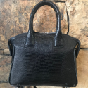 Alternate image 2 for Kayla Small Black Lizard By Lanae Exotic Handbags