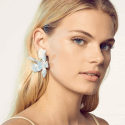 Alternate image 1 for Small Paper Lily Earrings - Sky Blue By Lele Sadoughi