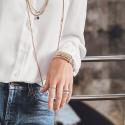 Alternate image 1 for Eka Flex'it Rose Gold Diamond Bracelet By Fope