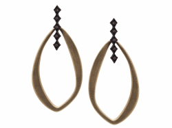 Closeup image for View 18K Yellow Gold Earring - 10322-0 By Armenta