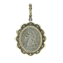 Closeup image for View Crowned Church Bell Pendant By Cynthia Ann Jewels
