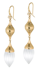 Closeup image for View 18K Crownwork Citrine Drop Earrings By Ray Griffiths