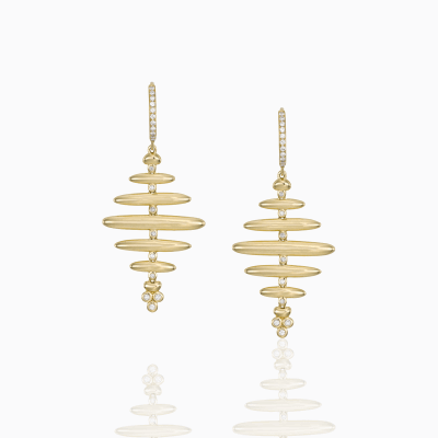 18K Honeycomb Earrings - Temple St. Clair