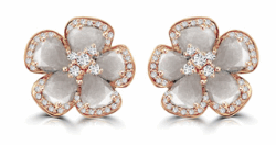 Closeup image for View 18K Rose Gold Flower Earrings By Vivaan