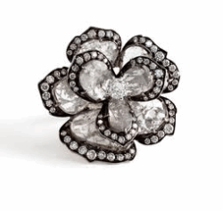 Closeup image for View 18K Diamond Slice Flower Ring - Yr58u By Vivaan