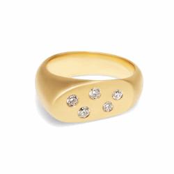 Closeup image for View Tsavorite Mischa Ring With Diamond By Lauren K