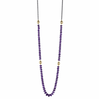 African Amethyst Bead necklace – Ray Griffiths Fine Jewelry