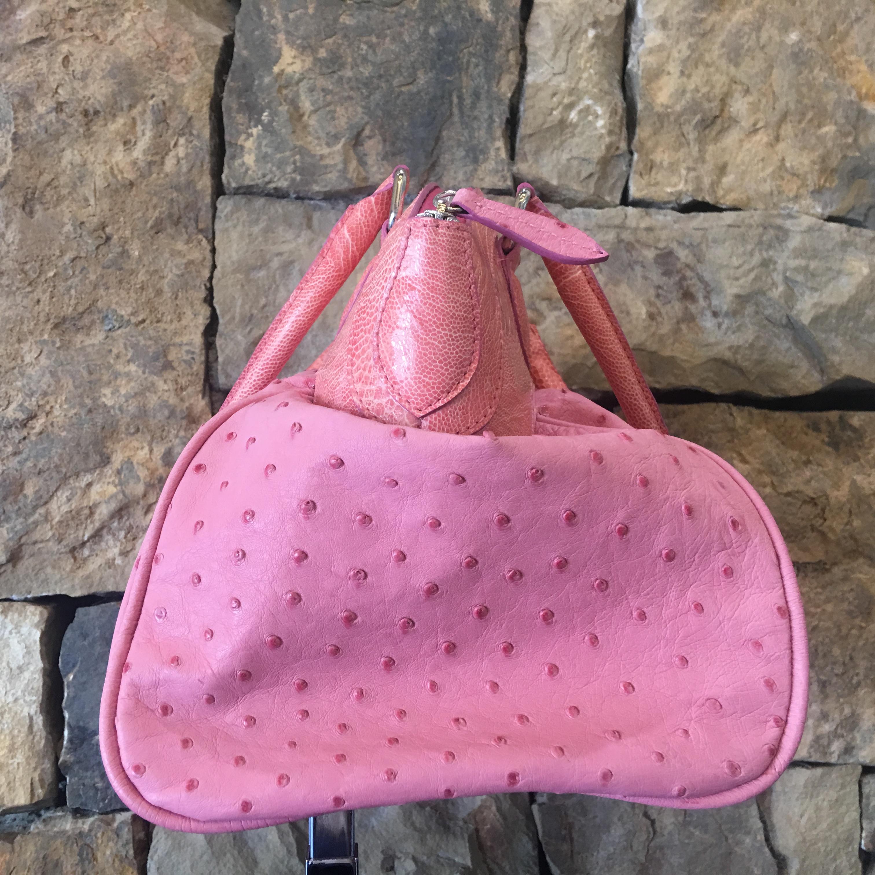 Pink Ostrich Handbag - alternate