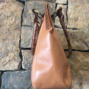 Alternate image 1 for Brown Leather And Crocodile Handbag By Leather Consignment