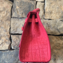 Alternate image 1 for Red Water Buffalo Handbag By Leather Consignment
