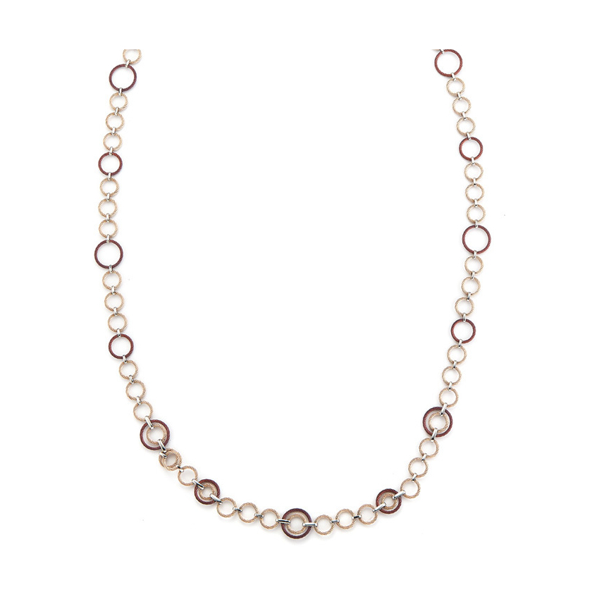 Long Interlocked Cable Necklace