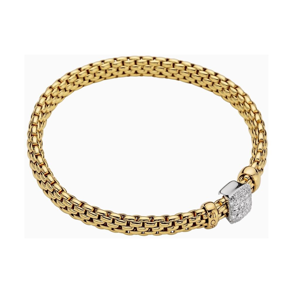 18k Gold Flex'it Bracelet with Diamonds