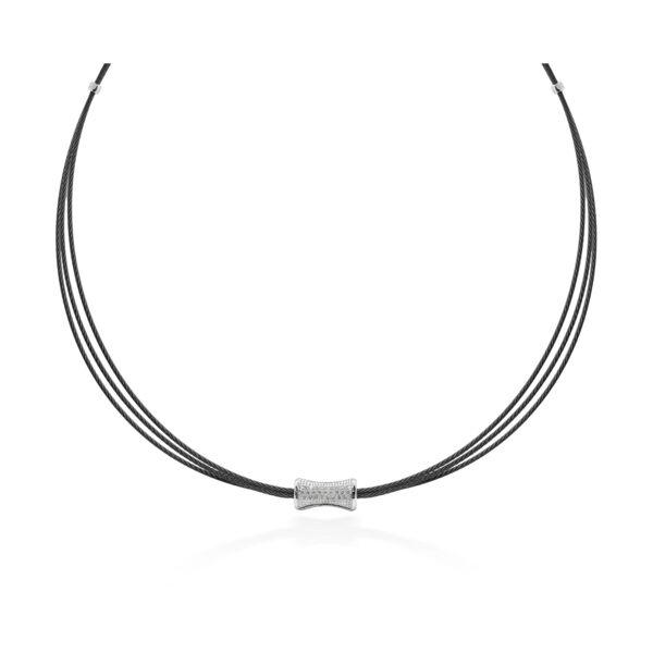 Closeup photo of Multi Strand Eclipse Cable Necklace