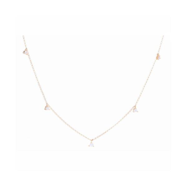 Closeup photo of Petite Martini Set Diamond Dangle Necklace