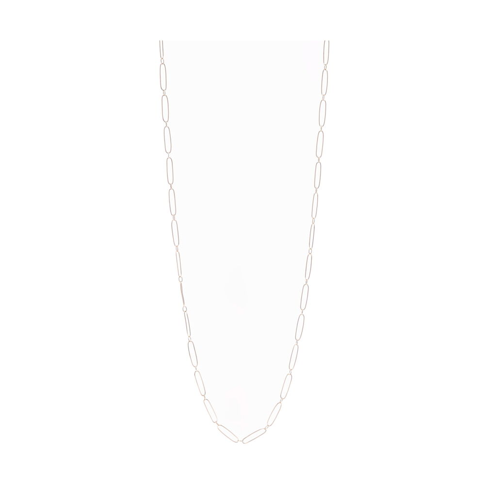 Paper Clip Necklace 14k Gold