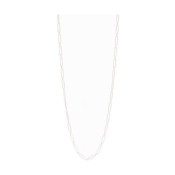 Closeup photo of Paper Clip Necklace 14k Gold