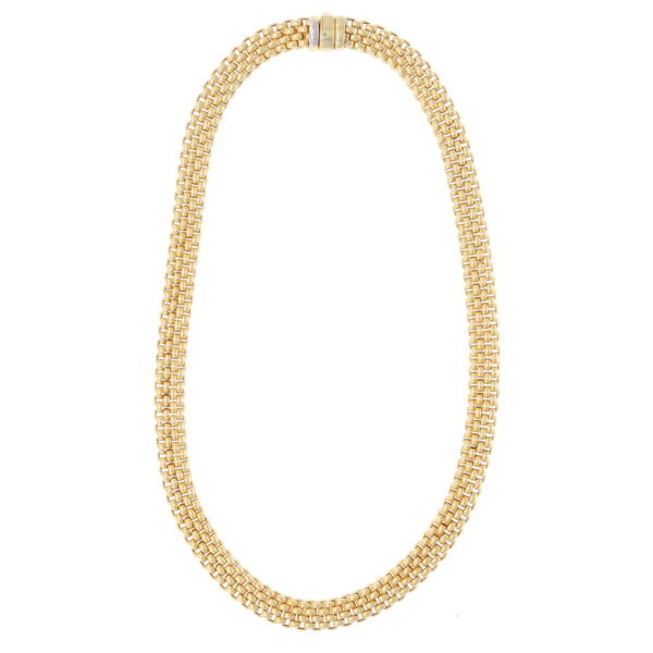 Closeup photo of Estate Fope Woven Necklace