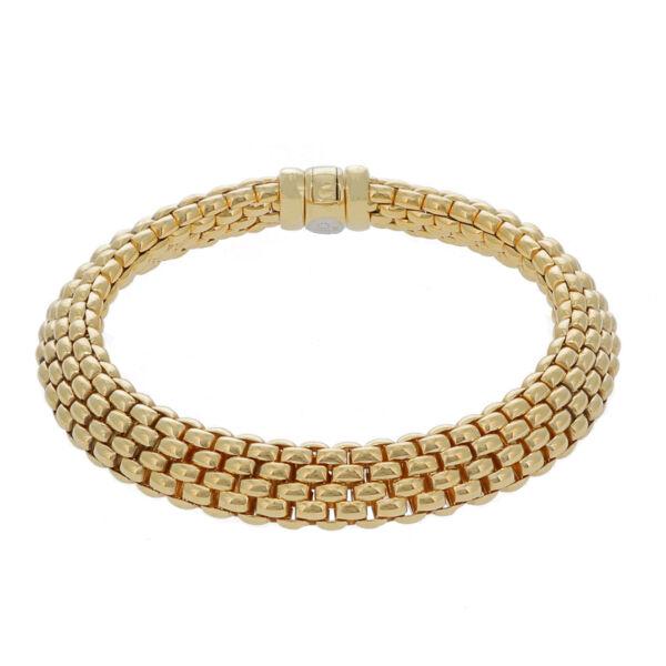 Closeup photo of Estate Fope Woven Link Bracelet