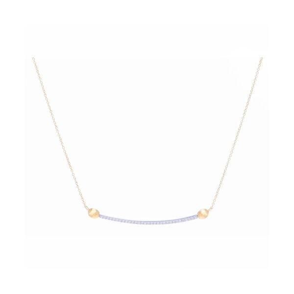 Closeup photo of Diamond Bar Necklace