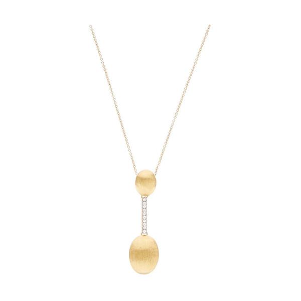 Closeup photo of Yellow Gold Dancing Elite Large Drop Necklace