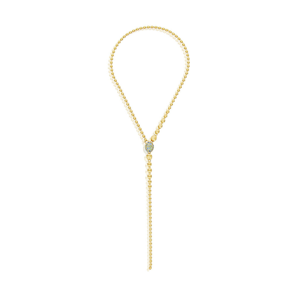 Yellow Gold London Blue Topaz Reverse Necklace