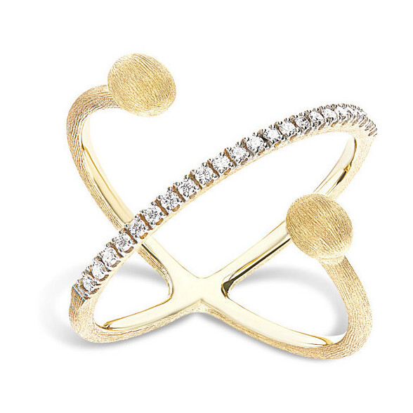 Closeup photo of Twist Dancing Elite Ring with Diamonds