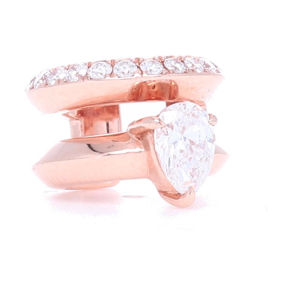 18k Rose Gold Diamond Ear Cuff