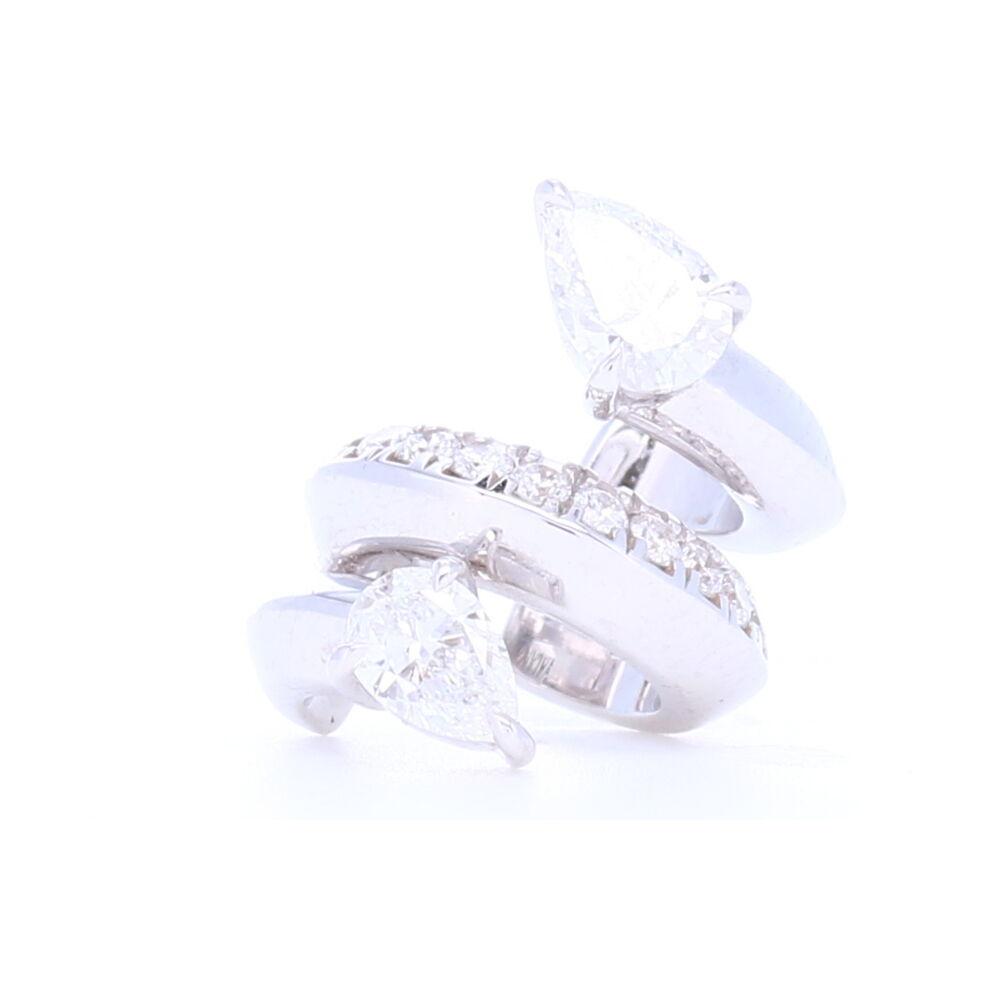 Diamond Ear Cuff with Pear Shaped Diamonds