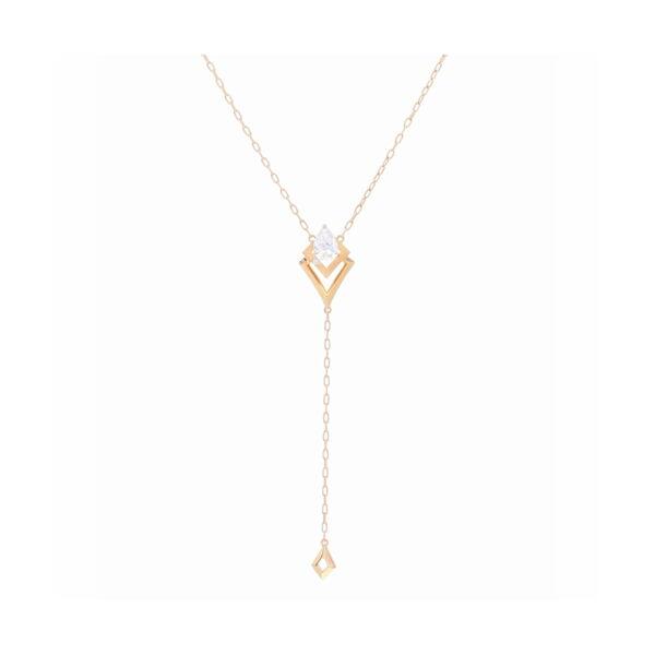 Closeup photo of Y Shaped Diamond Necklace