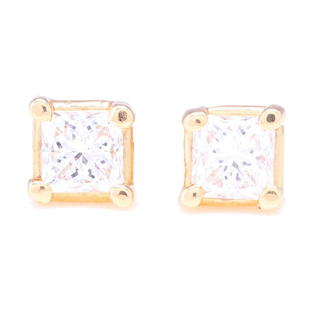 Princess Cut Diamond Prong Set Studs