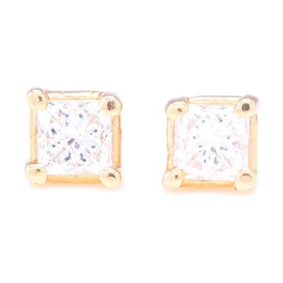 Large Diamond Flower Stud Earrigs