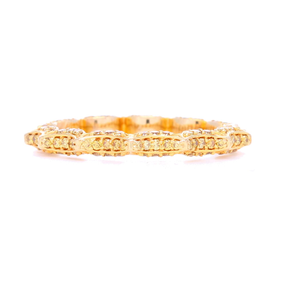 """Taj"" Yellow Diamond Stack ring In 18k Yellow Gold"