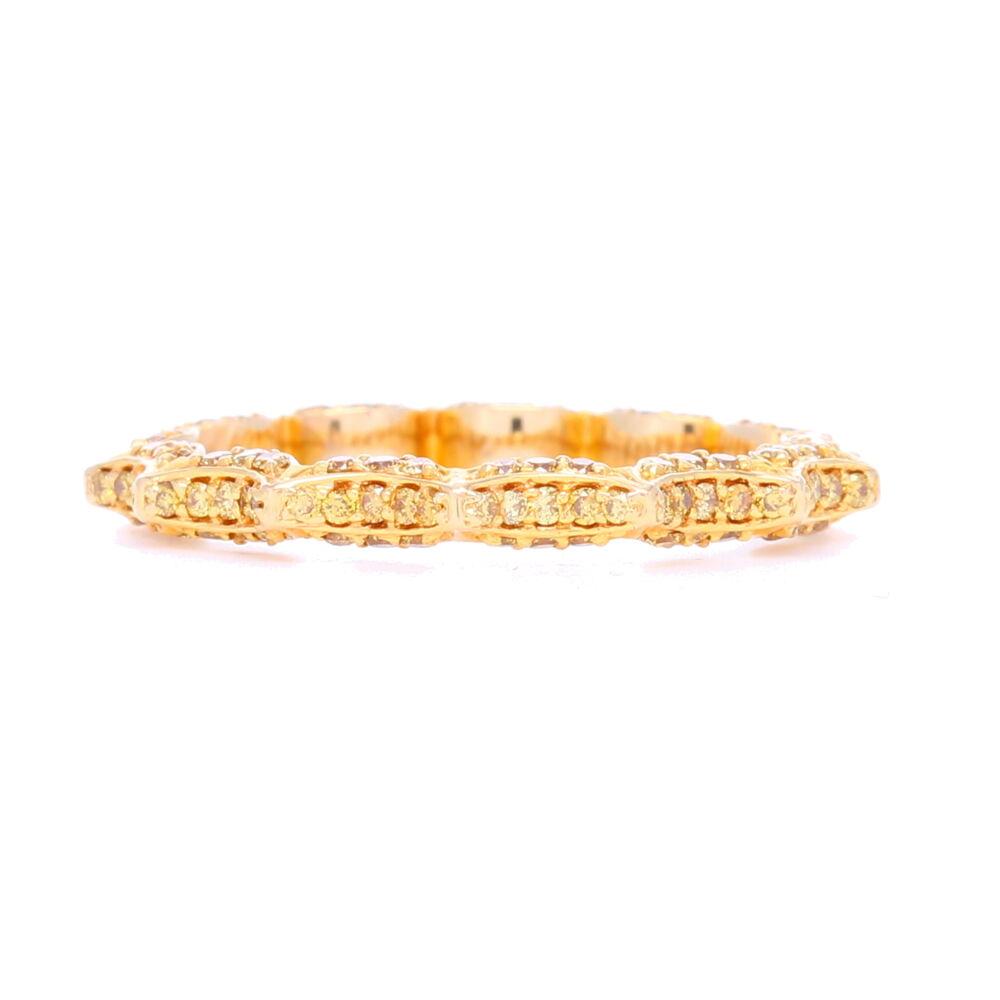 """""""Taj"""" Yellow Diamond Stack ring In 18k Yellow Gold"""