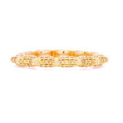 "Closeup photo of ""Taj"" Yellow Diamond Stack ring In 18k Yellow Gold"