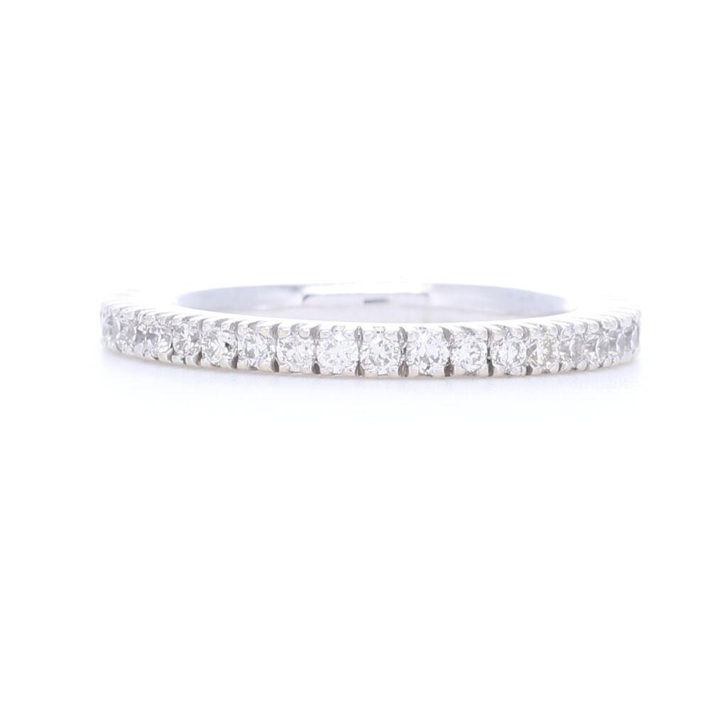 White Diamonds Prong set in 18k White Gold Eternity Stack Ring