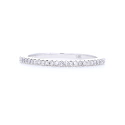 Closeup photo of Eternity Petite Stack Ring Band 14k White Gold with Diamonds