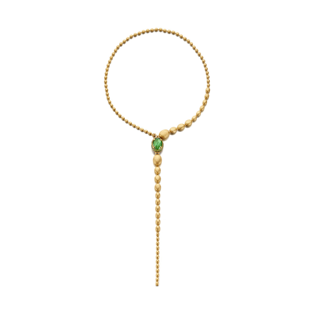 Dancing Reverse Necklace Green/Pink