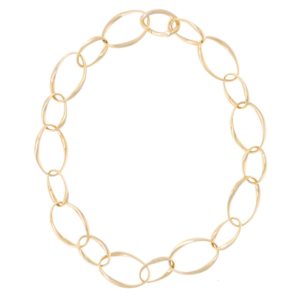 14k Classic Gold Chain w/ Alternating Links Herco