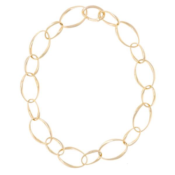 Closeup photo of 14k Classic Gold Chain w/ Alternating Links Herco
