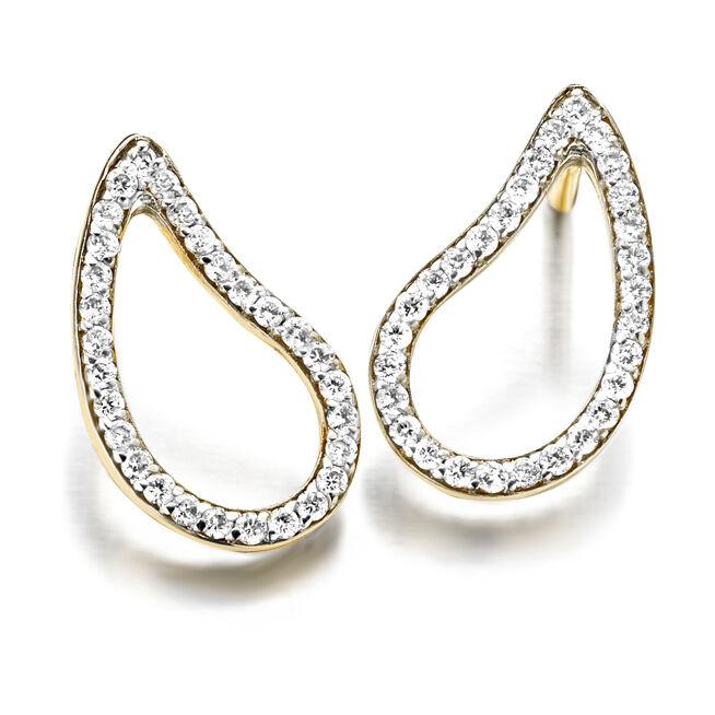 Cachemire Open Paisley Diamond Studs