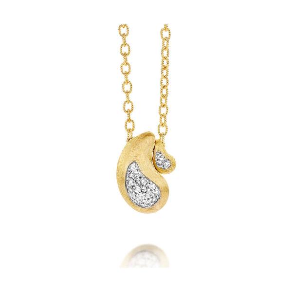 Closeup photo of Cachemire Paisley Diamond Inset Pendant