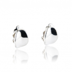Closeup photo of Small Bent Chip Earrings