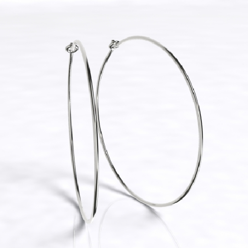 Closeup photo of Large Thin Hoops Earrings