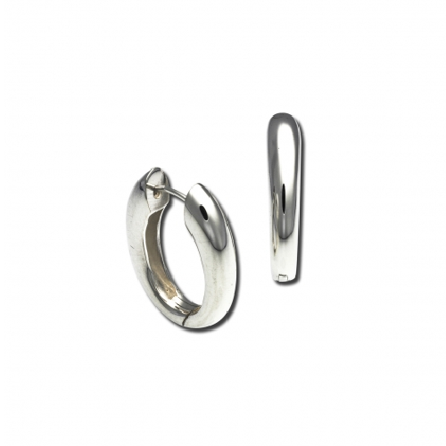 Closeup photo of Snap Hoop Earrings