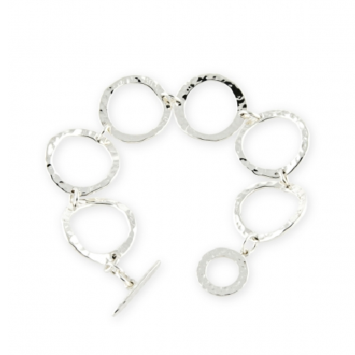 Open Ripple Links Bracelet